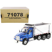 Kenworth T880s Sffa Tandem Axle With Pusher Axle Ox Stampede Dump Truck Blue ...