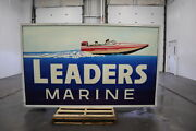Used Lighted Double Sided Panel Box Sign 6ft X 10ft Post Pole Mount Or Hang
