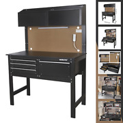 New Workpro 2 In 1 48 Inch Workbench And Cabinet Combo With Light Steel Wood