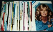 Lot Of 45 Farrah Fawcett 1970s/1980s Jpn Picture Clippings Charlie's Angels