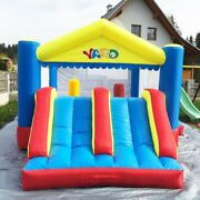 Inflatable Bounce House Castle Big Slide Kids Bouncer Jumper Safety And Blower