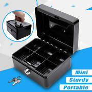 Metal Cash Box With Money Tray Lock And Key For Cashier Drawer Money Safe