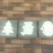 Christmas Wall Decor Set Of 3 Handcrafted One Of A Kind