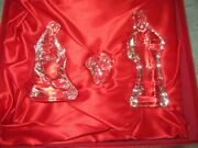 Waterford Crystal Nativity Collection Holy Family Set Of 3 Made In Ireland W/box