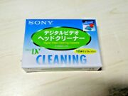 Sony Mini Dv Video Head Cleaner Cleaning Cassette Tape Camcord Dvm4cld2 Japan