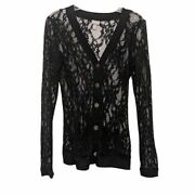 Vanity Jacket Black Button Down Lace S Vintage Inspired