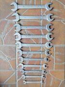 Hazet 450 Set Of 12 Wrenches From 1950's Little A And L Rare Stamped Numbres