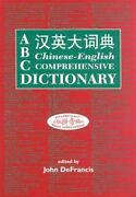 Abc Chinese-english Comprehensive Dictionary By John Defrancis New