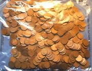 500 Unsearched Wheat Cents - Lincoln Rolls - Estate Lot - 500 Coin Bag