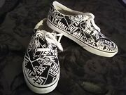 Off The Wall Size Men 9 Checkered Shoes