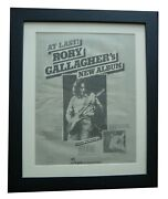 Rory Gallagher+against The Grain+poster+ad+original 1975+framed+fast World Ship
