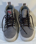 Off The Wall High Tops Size Menand039s 6 Womenand039s 7.5 Gray Black Red Skater Euc