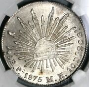 1875-pi Ngc Ms 64 Mexico 8 Reales Potosi Mint Silver Coin Pop 2/1 18101804d