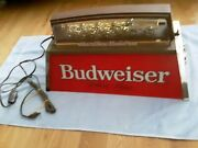 Vintage Budweiser Pool Table Light With World's Champion Clydesdale Team