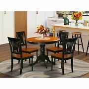Antique 5-piece Dining Set With Wooden Chairs Black 5-piece Sets