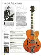 Gretsch Chet Atkins Model + Billy Duffy White Falcon Guitar Article With Specs