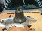 Antique Large Heavy Train Bell Brass 36 Lbs Old Orignal Bell
