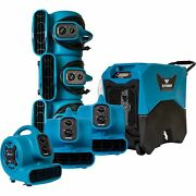 Xpower 7pc Water Contractor Pack 6 Mini Mighty Air Movers And 1 Commercial