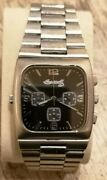 Mens Very Rare Ingersoll Duo Reverso Reversible Chronograph Dual Face Watch