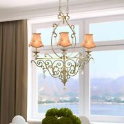 Springdale 32w Ashbee 3-light Crystal Accent Chandelier Brass Finish Antique