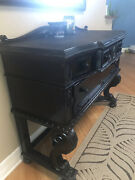 Rare Antique American 1920and039s Revival Gothic/jacobean Buffet Hand Carved Mahogany