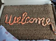 New Banksy Welcome Mat Gross Domestic Product 172x In Hand Fast Postage