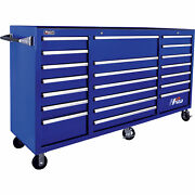 Homak H2pro 72in 21 Drawer Rolling Tool Cabinet Blu 71 5/8inwx21 5/8indx46 3/8in
