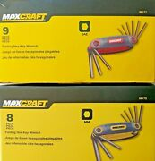 Maxcraft Folding Hex Key Wrench 9 Pc Sae And 8pc Mm1 Each