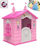 Disney Princess Cottage Playhouse Castle Patio Activity Play House Girl Gift New