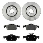 For 2004-2011 Volvo S40 2007-2013 C30 2006-2013 C70 Rear Rotors And Ceramic Pads