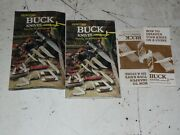 Lot Of Vintage Buck Knives Literature - Folding Catalogs And Sharpening Inst.