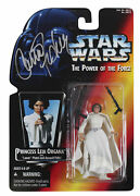 Carrie Fisher Star Wars Signed Princess Leia Organa Action Figure Bas Aa03817