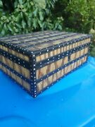 Antique Large Porcupine Quill Indian Asian Box