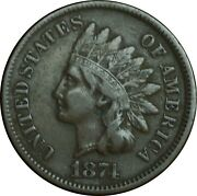 1874 Indian Head Penny Choice Vf Condition Problem Free - Rare