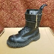 Gripfast 10 Eye With Straps Steel Toe Black Boot Combat Leather Womenand039s Us Sz 6