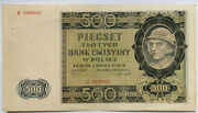 🍀 🇵🇱 Poland.the 500 Złoty Note Issued By The German During World War Ii