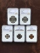 1961 Proof Set Matched Ngc Pf 68 Star Proof 68 Blast White Copper Cent Red