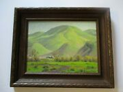 Darwin Duncan Oil Painting Antique Frame California Hawaii Listed Landscape 1940