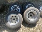 14x8 Wire Mag Wheels Ford Chevy And 5x5 Goodyear Eagles Deep Dish Imco