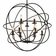 The Gray Barn Ashgrove 9-light Globe Chandelier With Brown Brown
