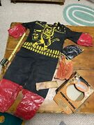 Vintage Ben Cooper Black Cat Costume And Mask Early Halloween Goody