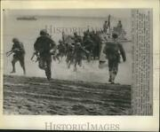 1962 Press Photo Members Of The First Marine Division In Guadalcanal Reenactment