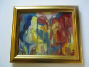 Catherine Poirie Oil On Canvas French Paris France Expressionist Rare Modernist