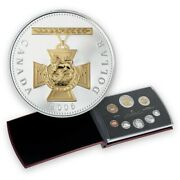 Canada Coins 2006 Silver Proof Set Gold Plated Victoria Cross