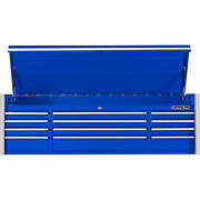 Extreme Tools Rx Series 72in. 12 Drawer Triple Bank Top Tool Chest - Blue