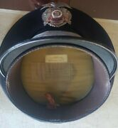 Vintage Lapd Collector Items. Police Hat And Eagle Device. Named J.l. Haag 1970's