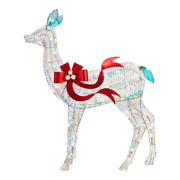 5 Ft White Sparkling Christmas Reindeer Outdoor Led Holiday Yard Decoration