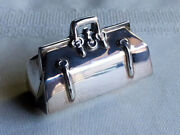 Whimsical Vintage Sterling Silver Doctorand039s Bag Pill Box