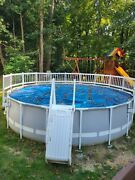 Intex Prism Frame Pool 18 X 48 Round - Used, Only 14 Months Old