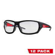 Milwaukee Safety Glasses Anti-scratch Lens Impact Resistant Clear 12-pack